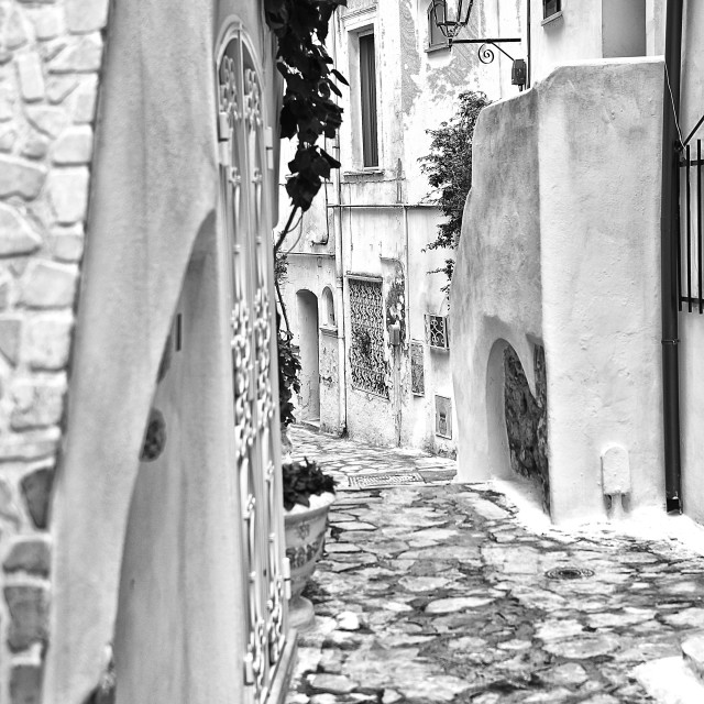 """Sperlonga typical alley"" stock image"