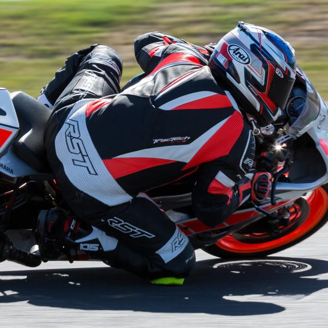 """Motorcycle Road Racing"" stock image"