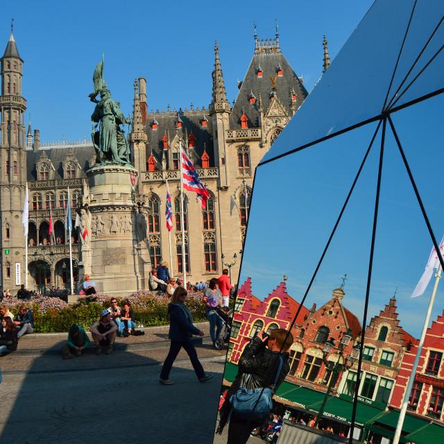 """""""Bruges: Reflection"""" stock image"""