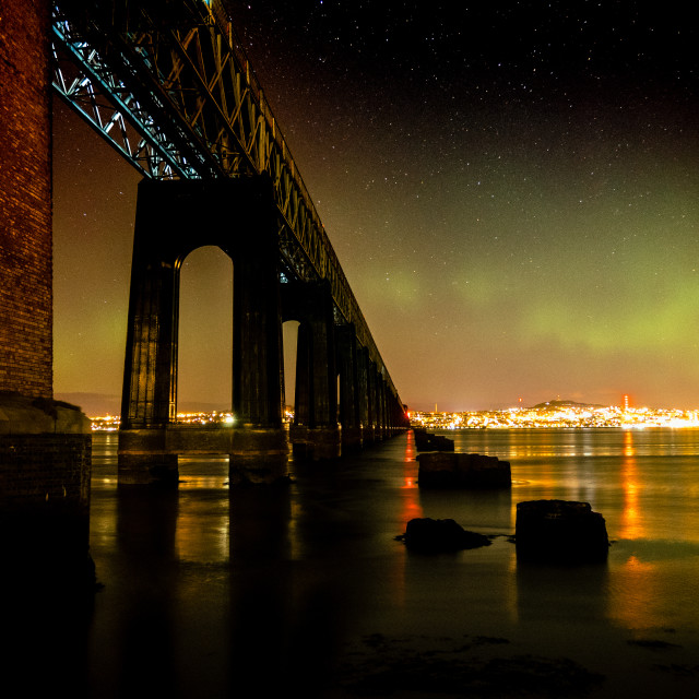 """""""Northern Lights Over Dundee"""" stock image"""