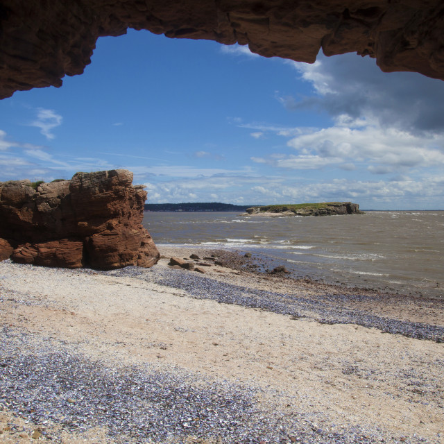 """Middle Eye Viewed From Hilbre Island"" stock image"