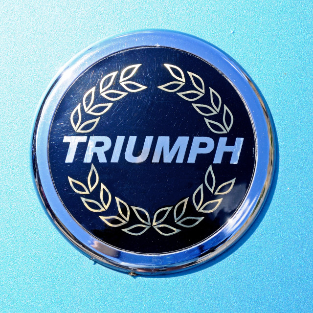"""Triumph Cars badge"" stock image"