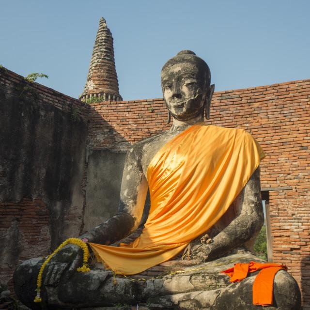 """""""ASIA THAILAND AYUTHAYA HISTORICAL PARK"""" stock image"""