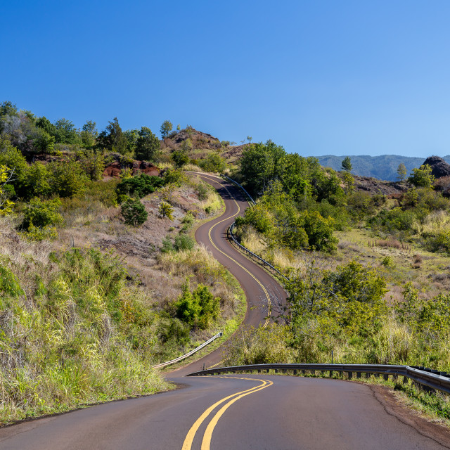 """""""Long and winding road"""" stock image"""