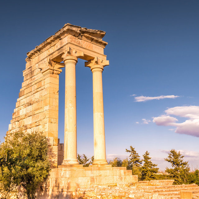 """Temple of Apollo Hylates, Limassol District, Cyprus"" stock image"