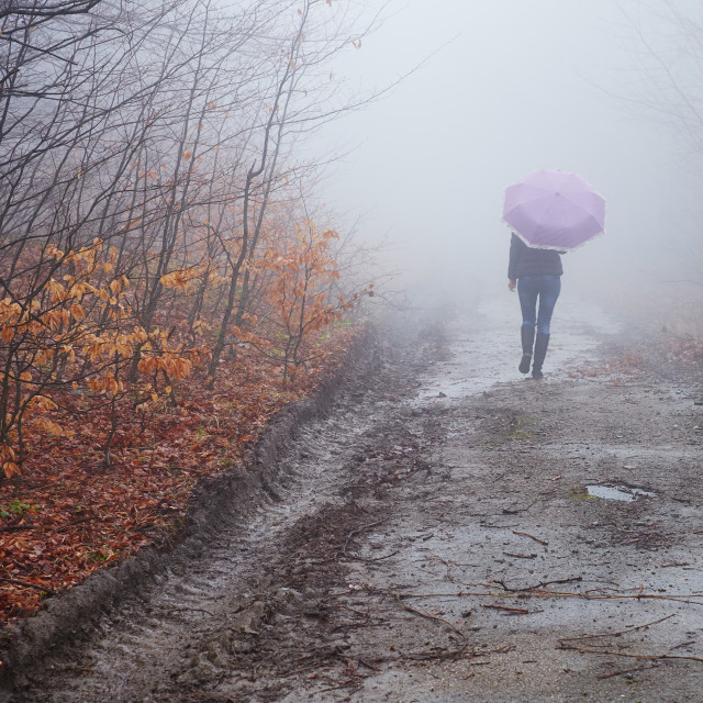 """""""Walking into the unknown"""" stock image"""
