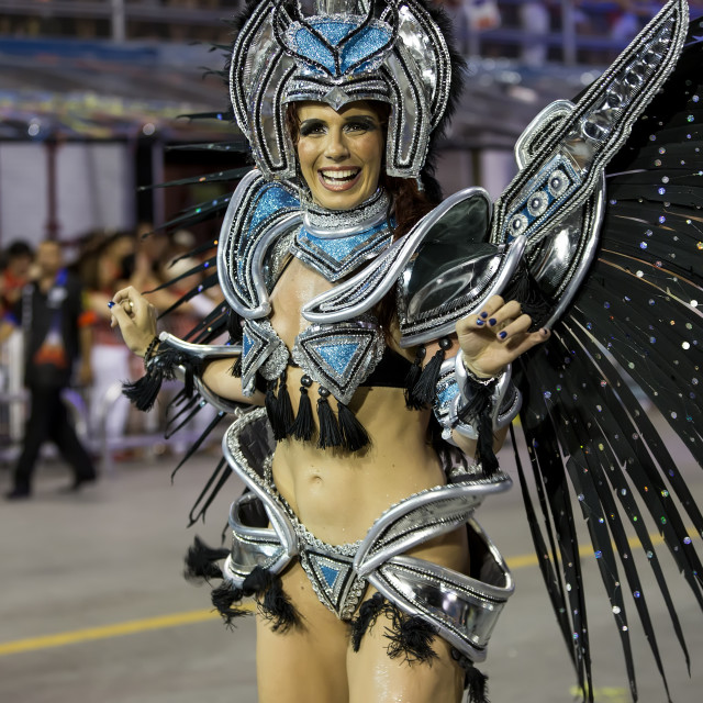 """Carnival Brazil Female Samba Dancer"" stock image"