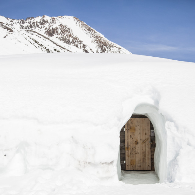 """Igloo village at Kühtai"" stock image"