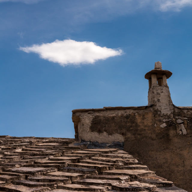 """Roofs and chimneys of the old Mostar"" stock image"