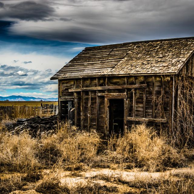 """Abandon Farm Building"" stock image"