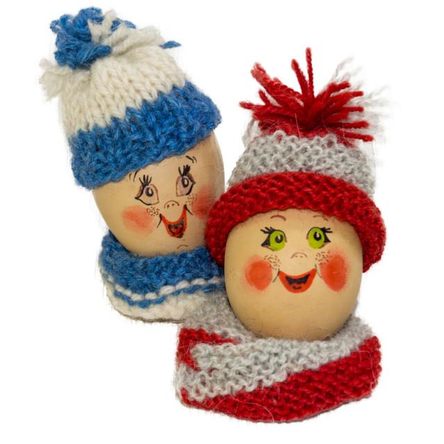 """Happy Easter eggs figurines"" stock image"