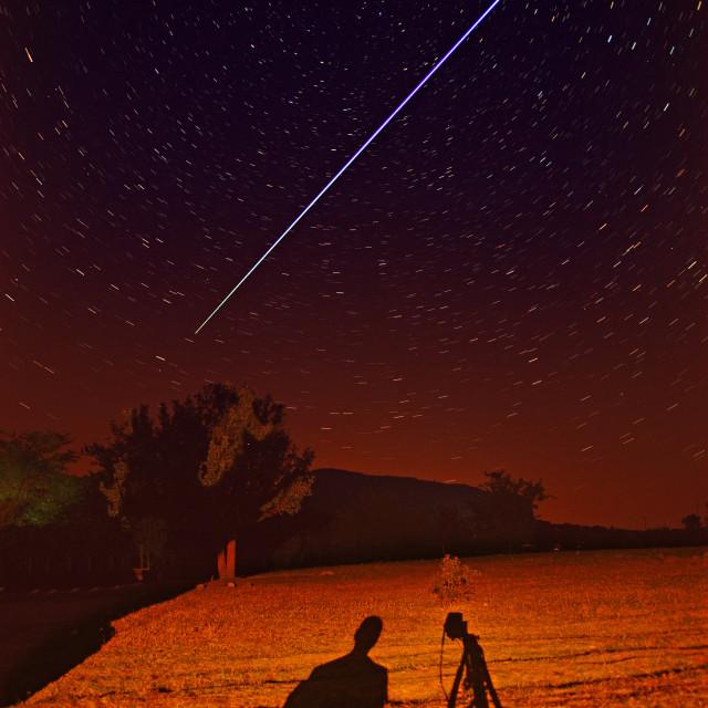 """The lone hunter meteorites"" stock image"
