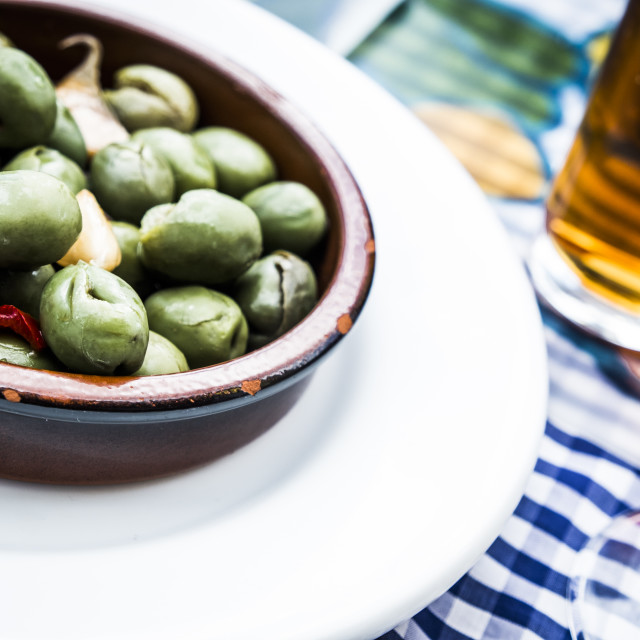 """Olives in Pampaneira, La Alpujarra"" stock image"