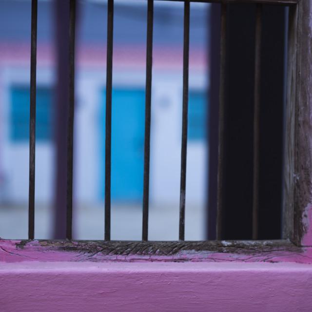 """Close-up of a window, Pushkar, Ajmer, Rajasthan, India"" stock image"