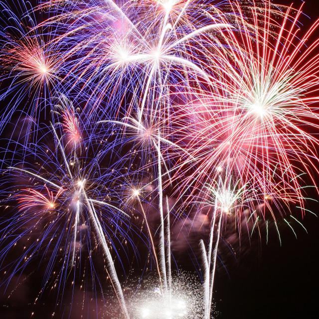 """Massive fireworks display"" stock image"