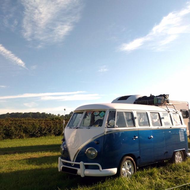 """""""Blue VW Campervan"""" stock image"""