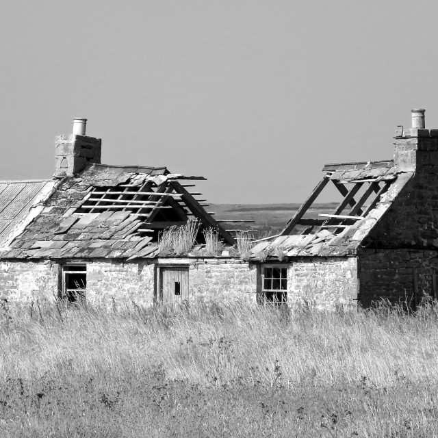 """""""Ruined cottage"""" stock image"""