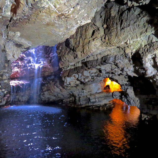 """""""Smoo Cave, Durness"""" stock image"""