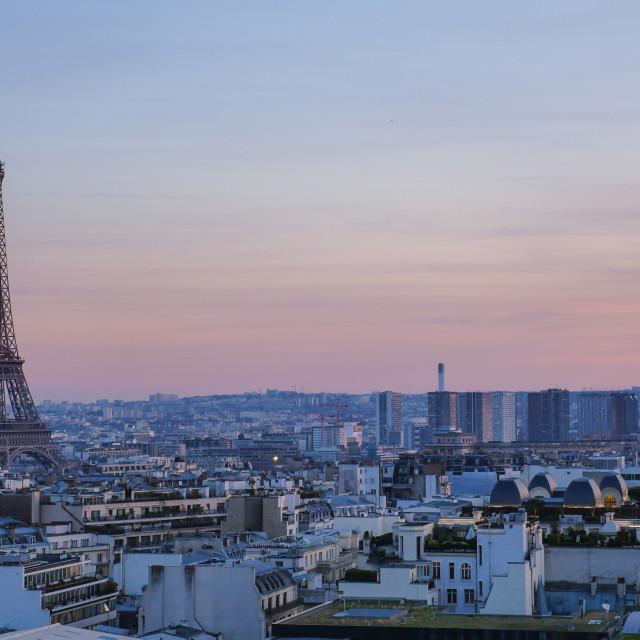 """""""Paris Sunset-Tour Eiffel-France"""" stock image"""