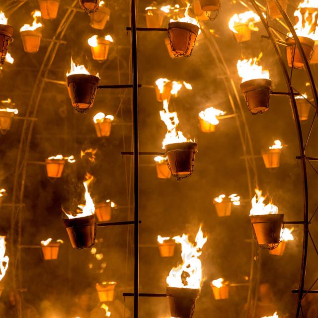"""""""Carabosse Fire Gardens"""" stock image"""