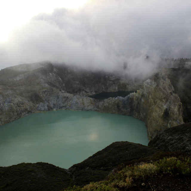 """Kelimutu, three Volcanic lakes on the island of Flores"" stock image"