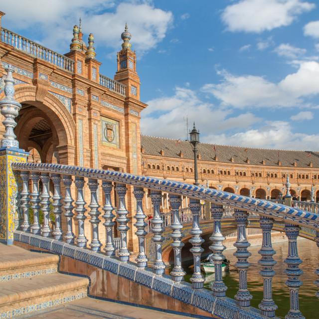 """""""Architectural complex Plaza de Espana in Seville"""" stock image"""