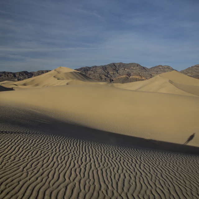 """Death Valley's Eureka Dunes"" stock image"