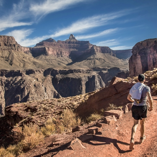 """Grand Canyon Jogger"" stock image"