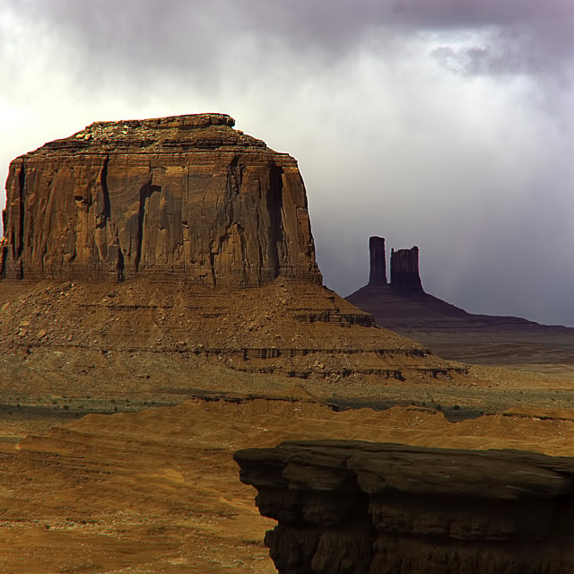 """""""TOURIST AT MONUMENT VALLEY"""" stock image"""