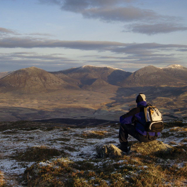 """Beinn a Ghlo from Ben Vrackie"" stock image"