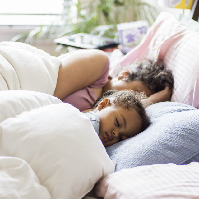 """""""Mother and Daughter Sleeps"""" stock image"""