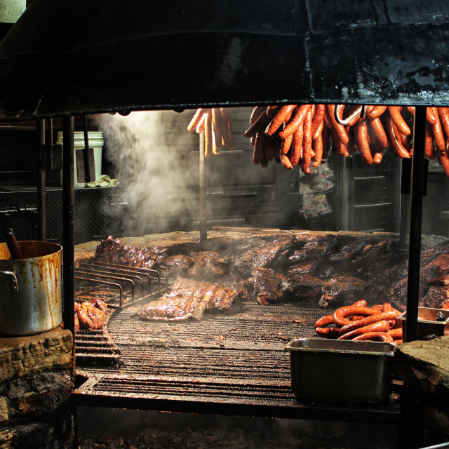 """Texas Style Barbecue Pit"" stock image"