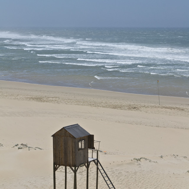 """Lifeguard hut."" stock image"