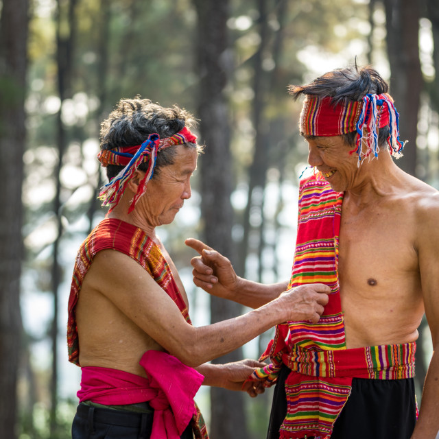 """""""Unidentified group people Dao ethnic at Son La"""" stock image"""