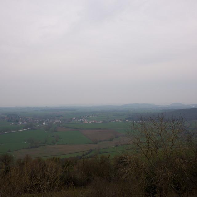 """The Burgundian countryside"" stock image"
