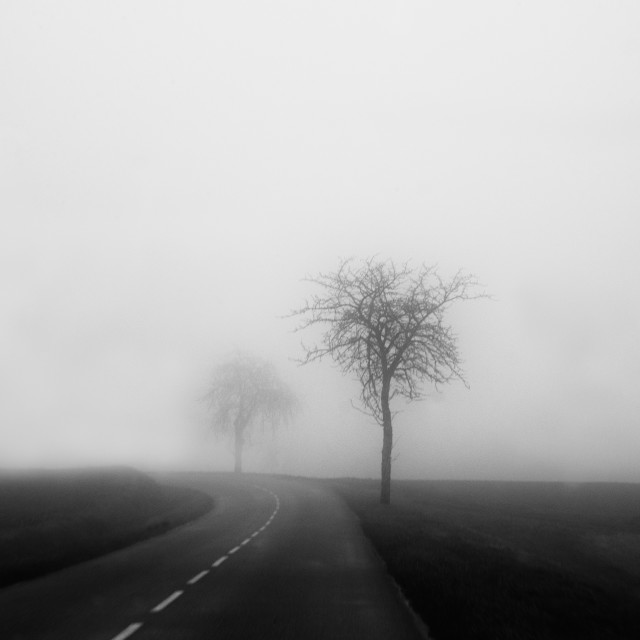 """""""Disappearing landscape"""" stock image"""