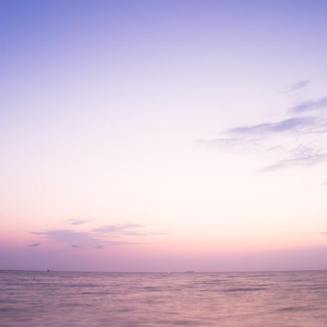 """sunset and beach"" stock image"