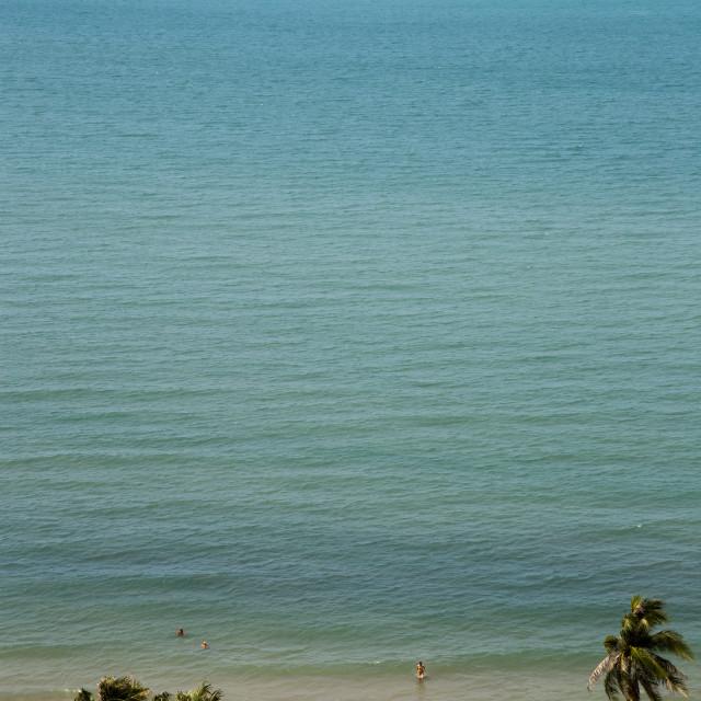 """Beach top view"" stock image"