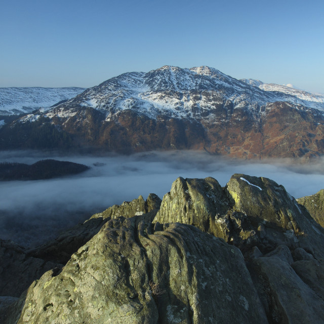 """Ben Venue from Ben A'an"" stock image"