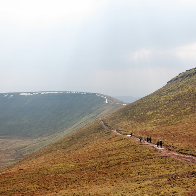 """""""Skirting the Summit of Corn Du, Brecon Beacons"""" stock image"""