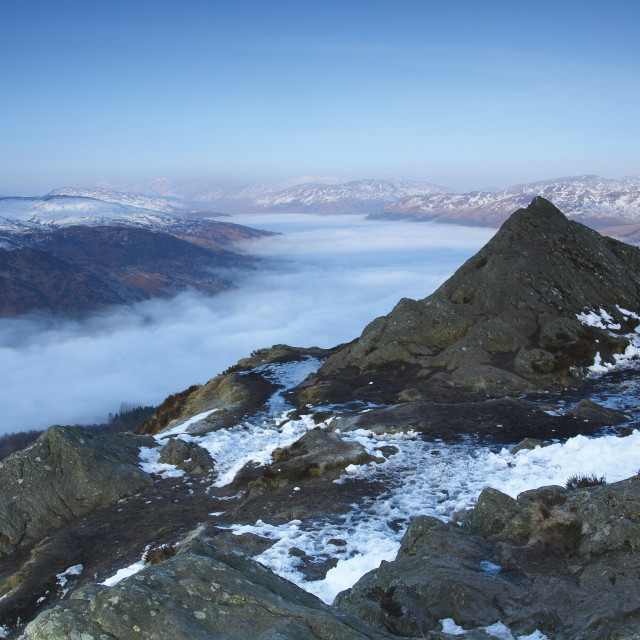 """Loch Katrine from Ben A'an"" stock image"
