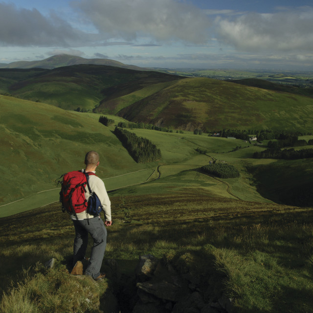 """""""Tinto Hill from Fell Shin"""" stock image"""