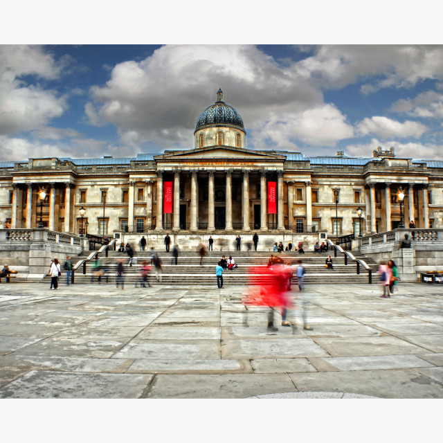 """Trafalgar Square Long Exposure"" stock image"