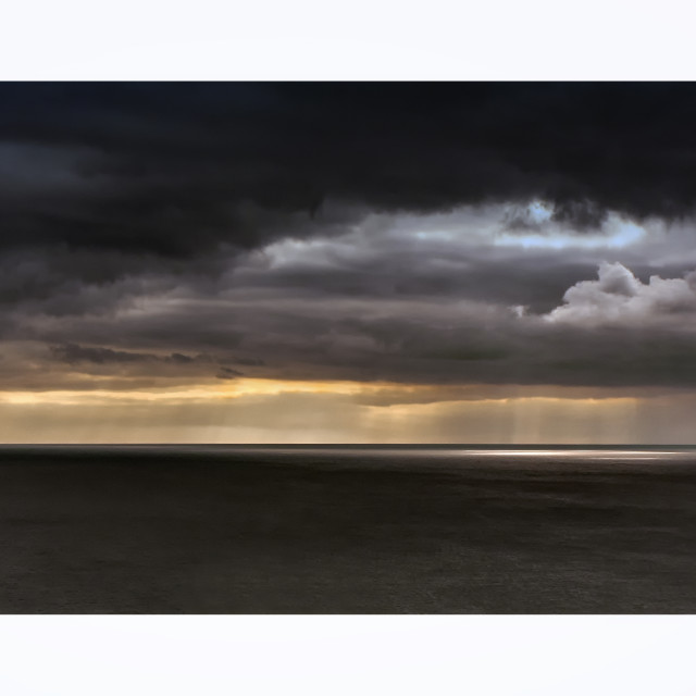 """Seascape from Beachy Head at Seaford East Sussex"" stock image"