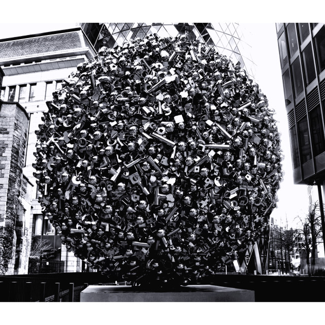 """Metal Sculpture In The City Of London"" stock image"