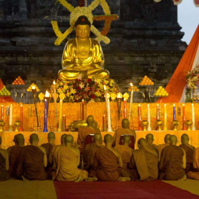"""Golden Buddha"" stock image"