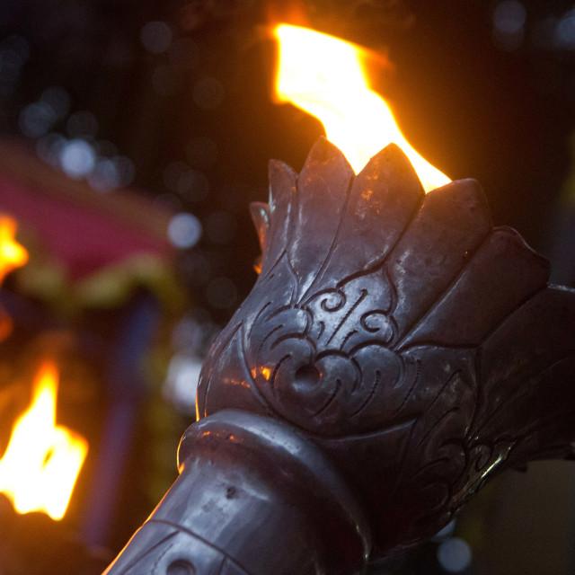"""""""Sacred Flame"""" stock image"""