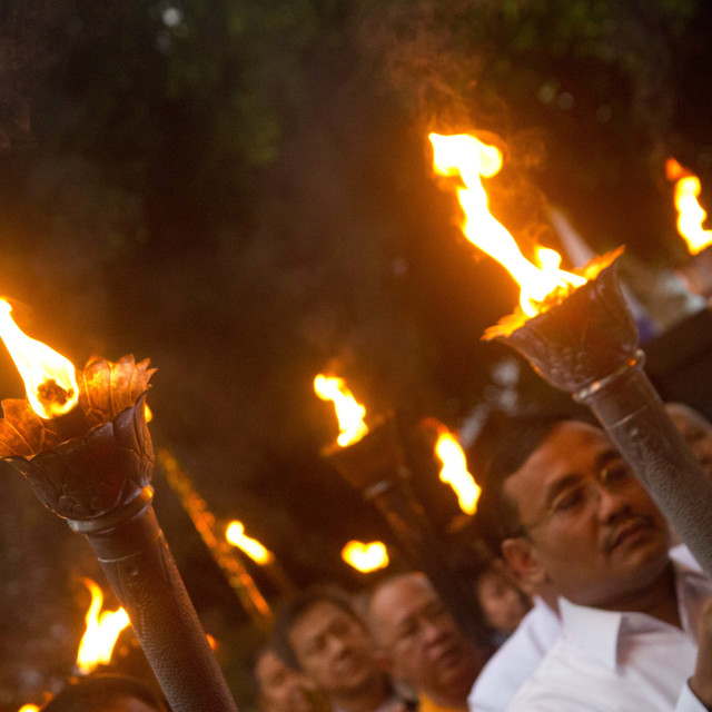 """Torchlit Procession"" stock image"