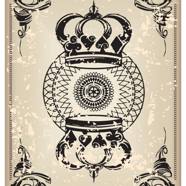 """""""Old playing card"""" stock image"""