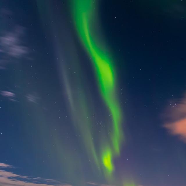 """""""Springtime Aurora Borealis"""" stock image"""